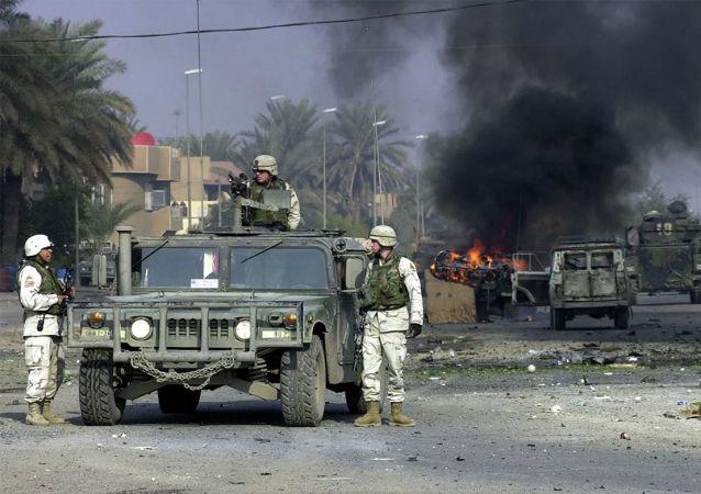 美国军人在巴格达(资料图片)