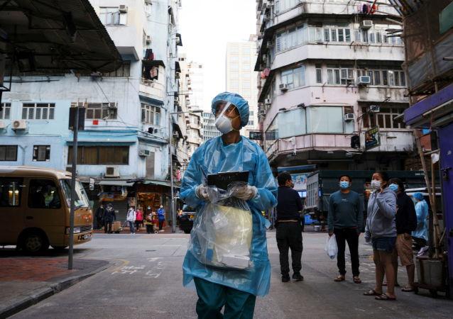 """香港特区政府在佐敦设立""""受限区域"""" 域内人员强制接受核酸检测"""