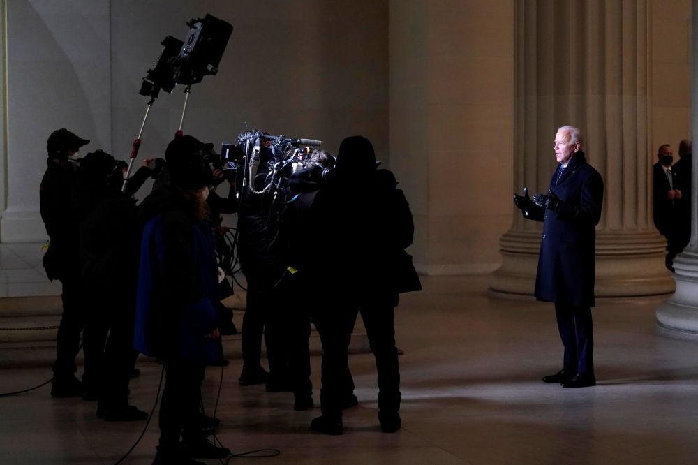 美国总统拜登发表全国讲话