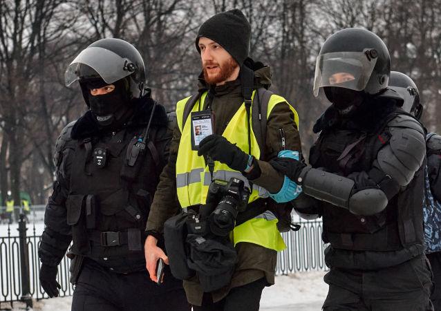 俄圣彼得堡非法集会被逮捕人数增至37人