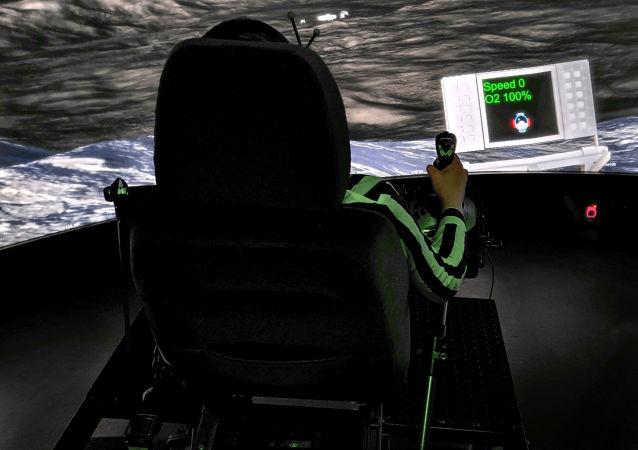 控制月球车的仿真试验装置