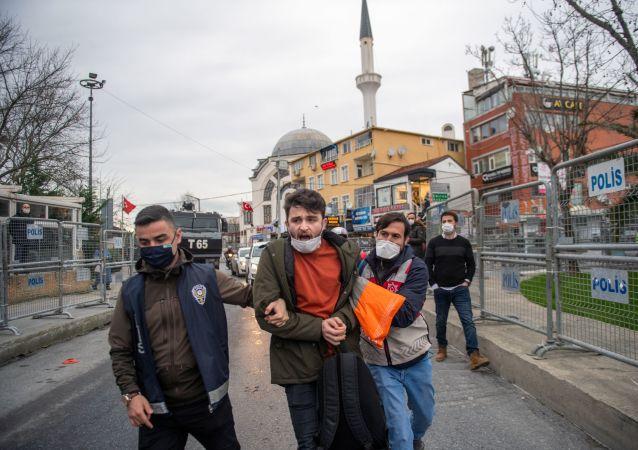 伊斯坦布尔博斯普鲁斯大学抗议活动中有150多人被拘留