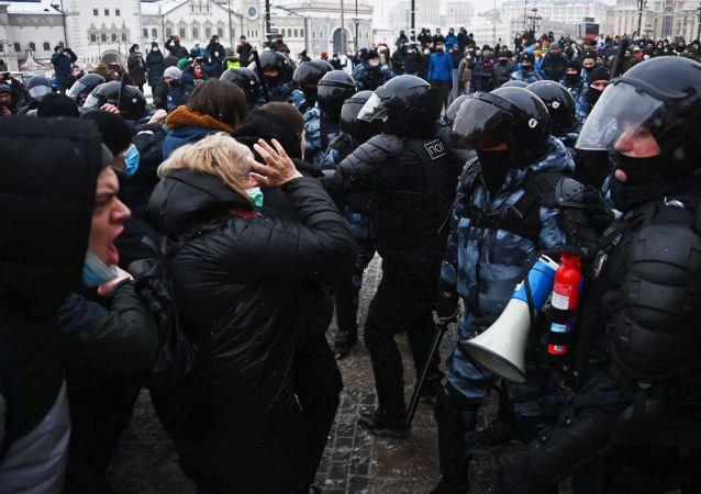 普京:抗议活动是俄罗斯的敌对势力对局势的利用