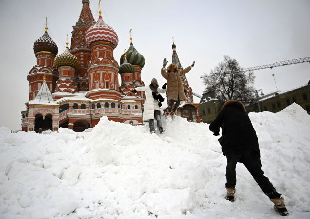 莫斯科的积雪厚度达到59厘米