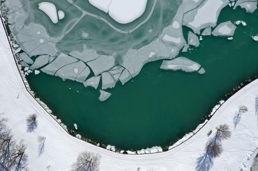 美国芝加哥密歇根湖景色。