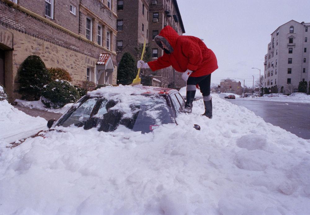 纽约强暴风雪过后的影响,1993年。