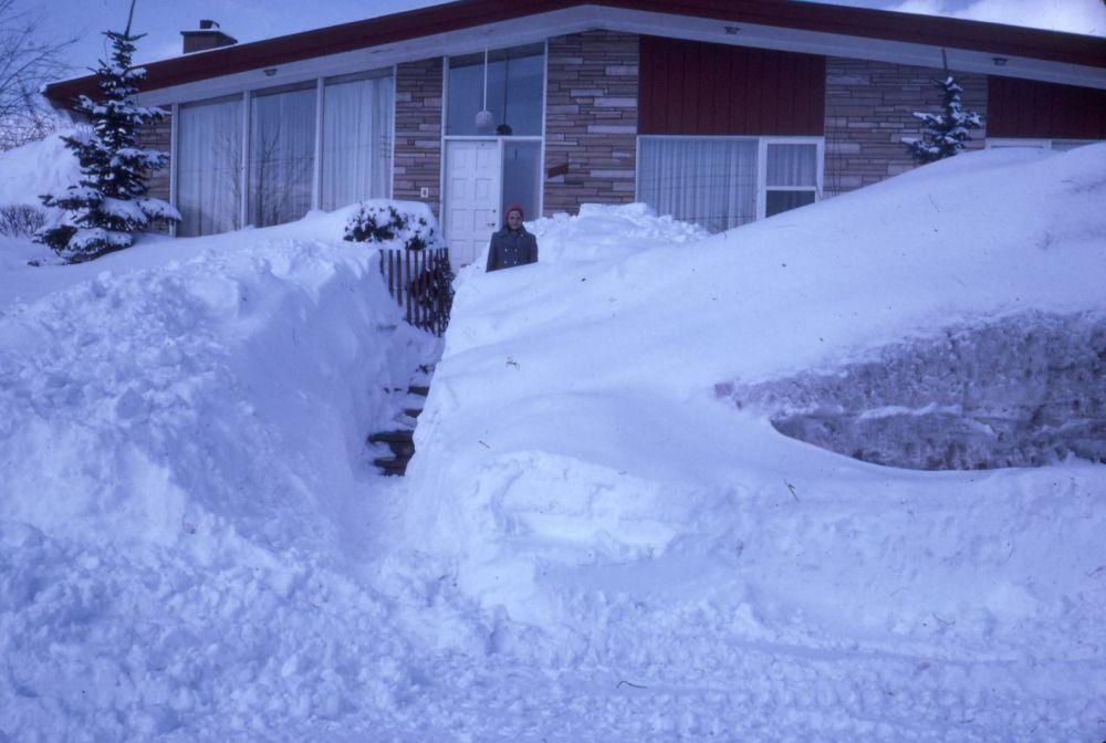 """1971年,加拿大""""世纪风暴""""带来的后果。"""