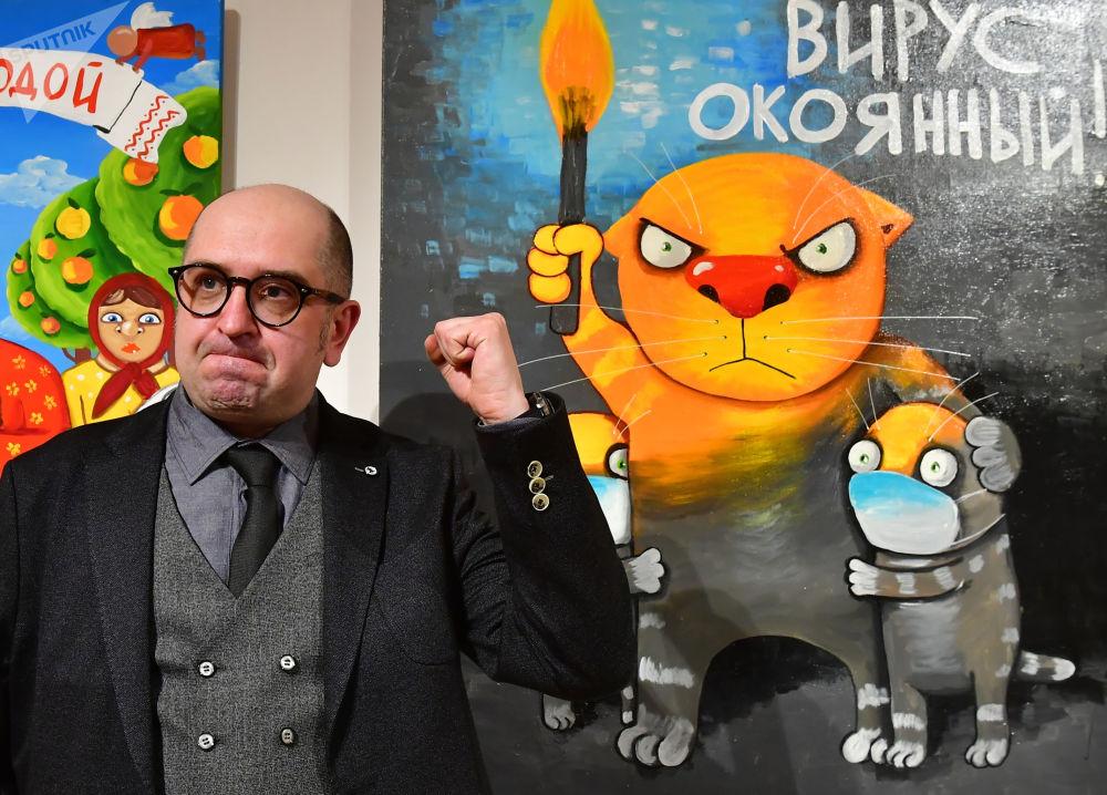 瓦西·洛日金的《伊济迪,可恶的病毒》展在俄罗斯当代历史博物馆举行。