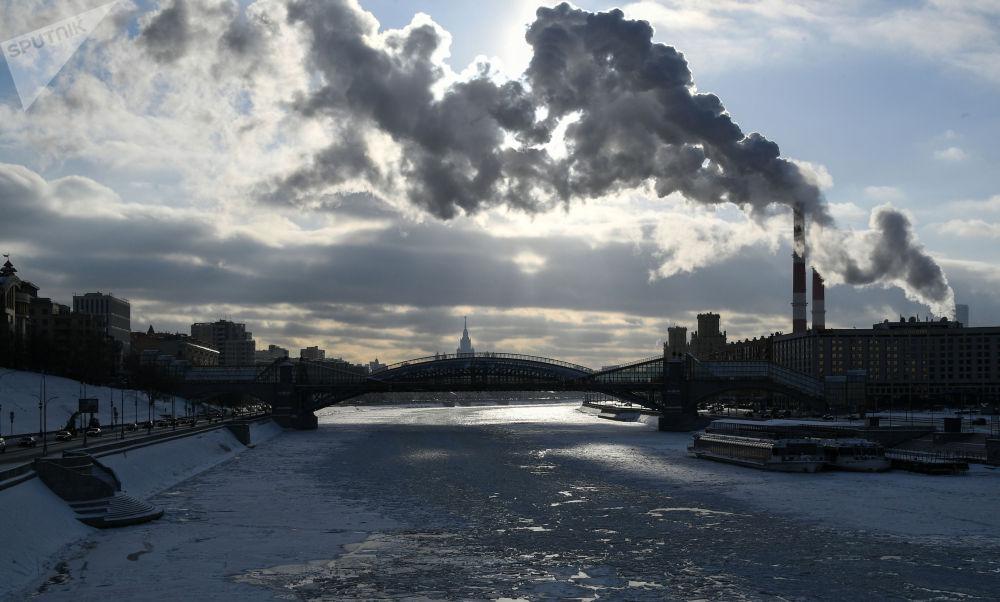 莫斯科河景色。