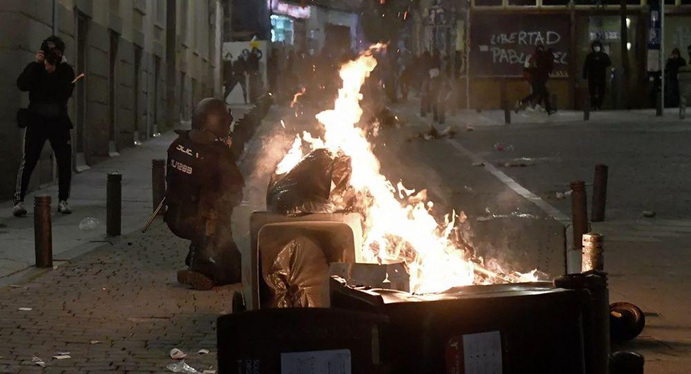 马德里的抗议活动