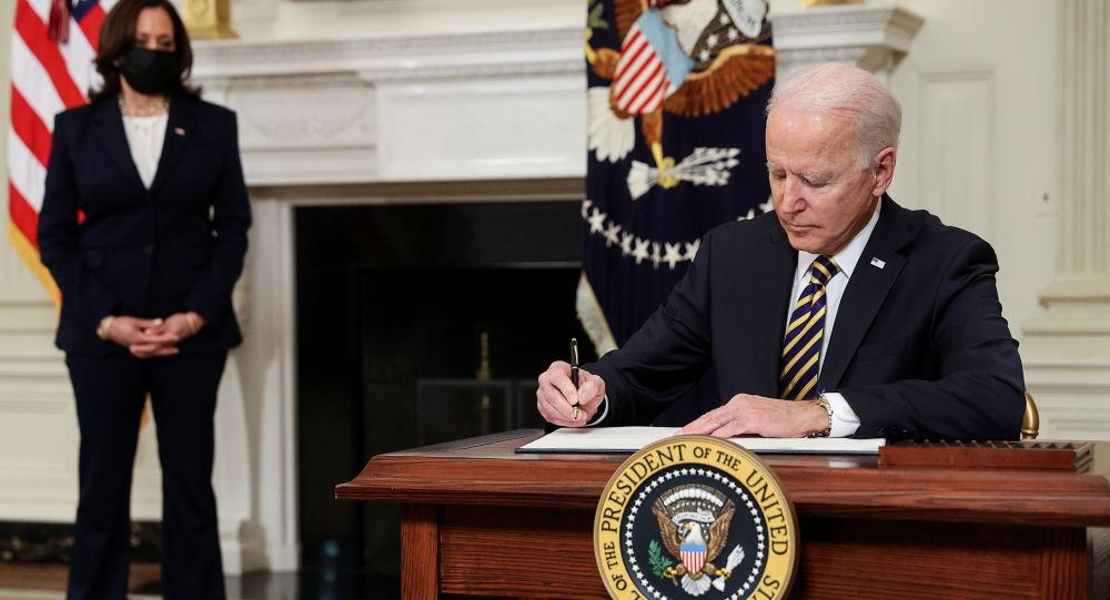 乔·拜登总统和美国副总统卡玛拉·哈里斯