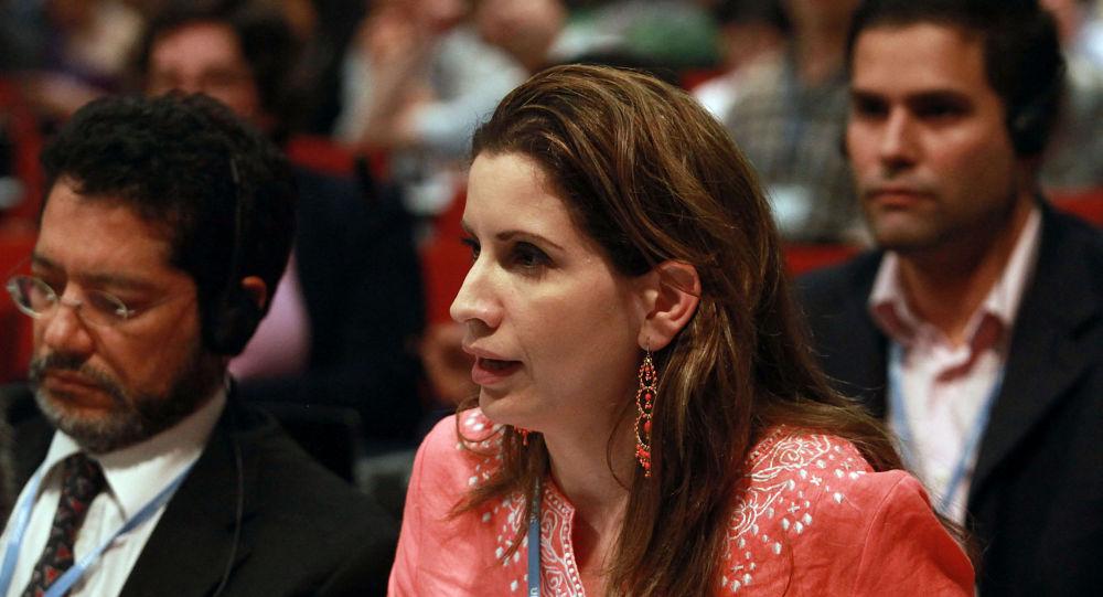 委内瑞拉驻欧盟外交使团团长克劳迪娅•萨莱诺•卡尔德拉