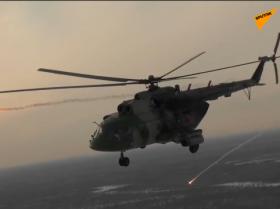 俄陆军航空兵直升机部队举行实弹演练