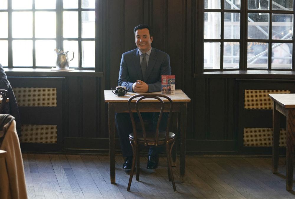 餐厅内设置的美国电视节目主持人吉米·法伦蜡像。