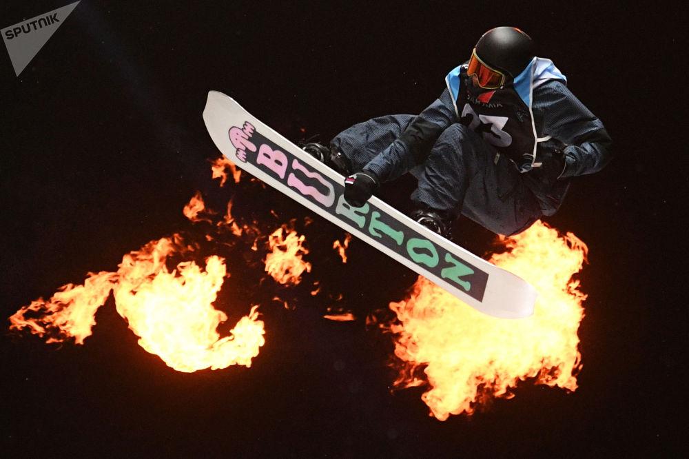 欧洲杯单板滑雪大跳台项目比赛。