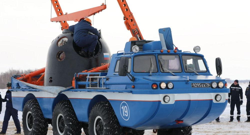 """俄中央军区航空救援人员已完成保障""""联盟MS""""飞船发射和着陆的准备工作"""