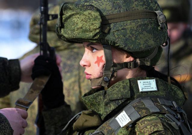 新西伯利亚胜利日阅兵将首次有四个女兵方阵参加