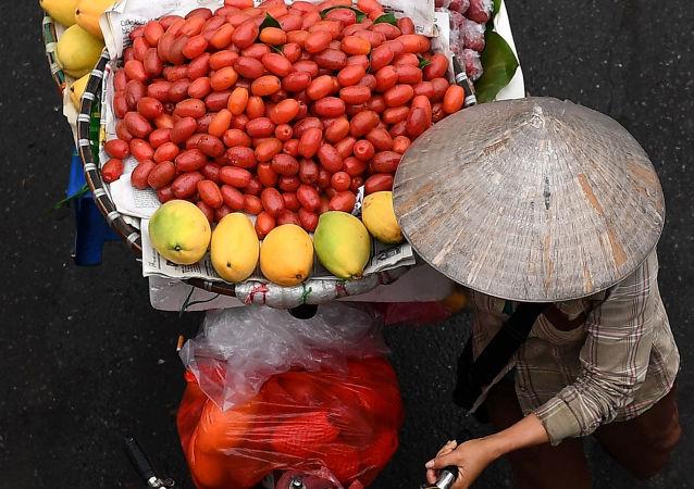 水果商,主要是女性,从凌晨3点开始一天的工作,从乡下开车到市区15公里,将水果、蔬菜和鲜花送到客户家门口。