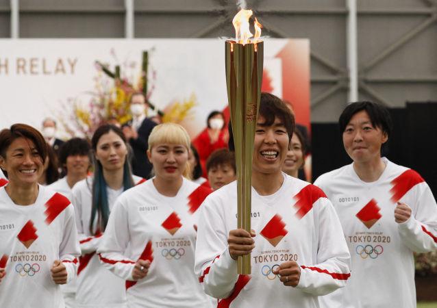 东京奥运会圣火传递