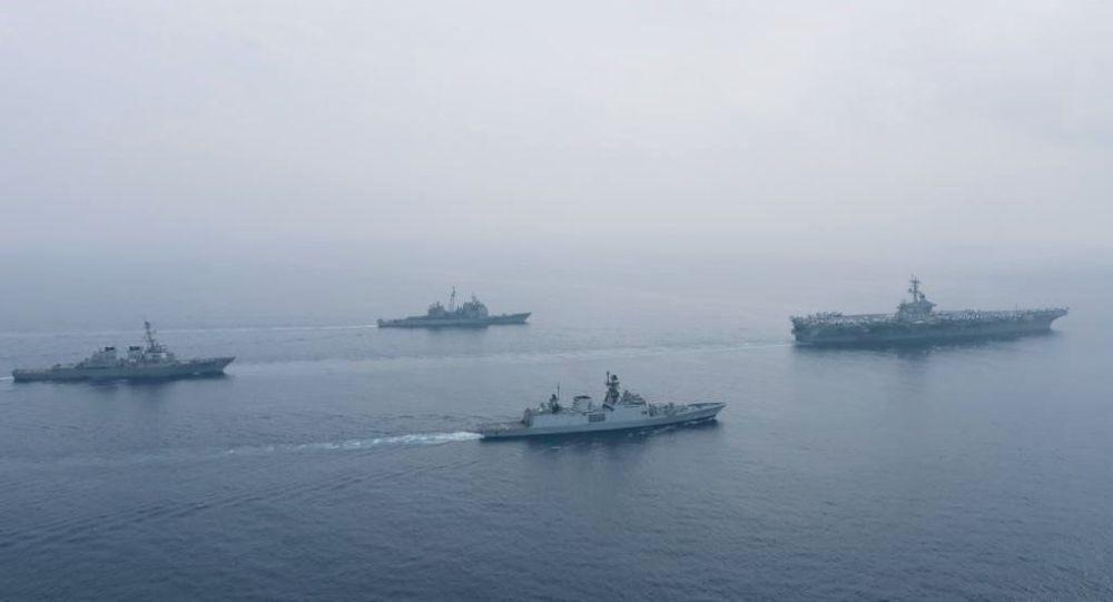 美印在东印度洋举行海上联合军演 专家:主要想展示给中国看