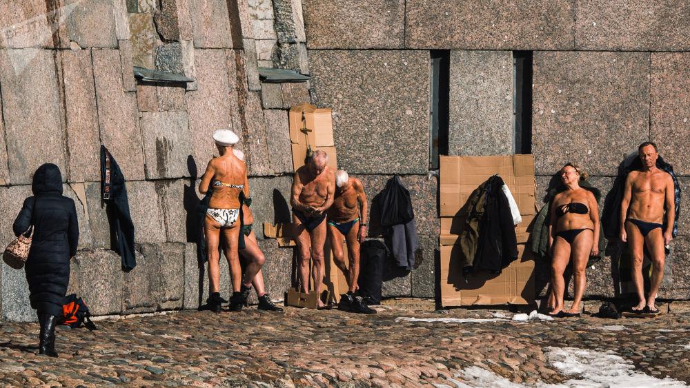 圣彼得堡市气温回暖。
