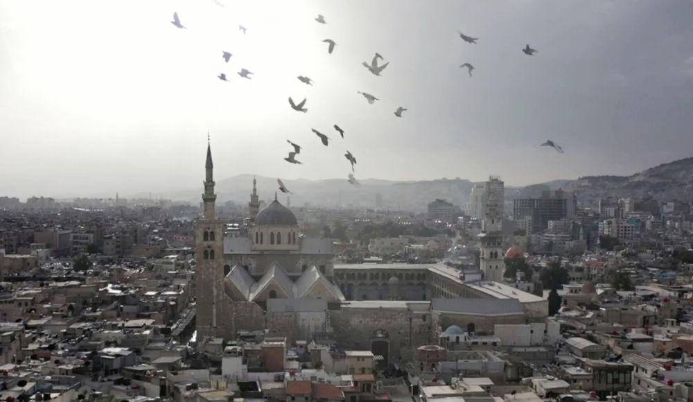叙利亚大马士革倭马亚清真寺。