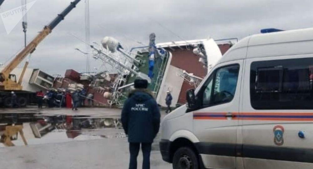俄机构:列宁格勒州造船厂船只侧翻事故搜救工作已经结束