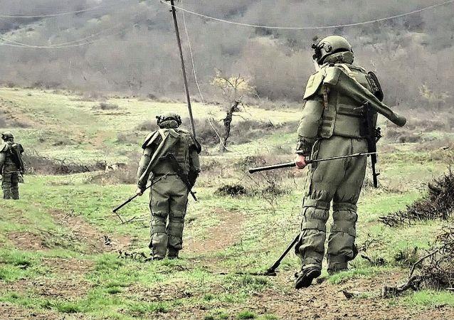 俄工兵在纳戈尔诺-卡拉巴赫