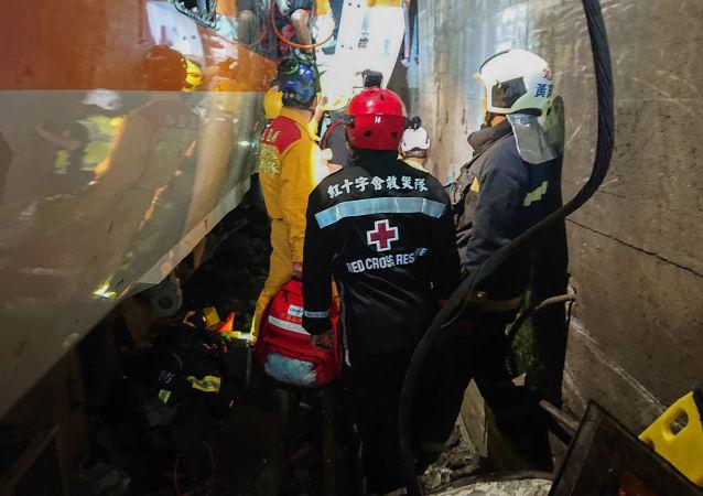 """台湾""""交通部长""""在发生火车事故后辞职"""