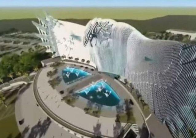 印尼新首都巨鹰雕塑建筑设计