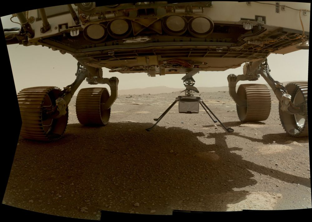 NASA火星直升机在火星着陆