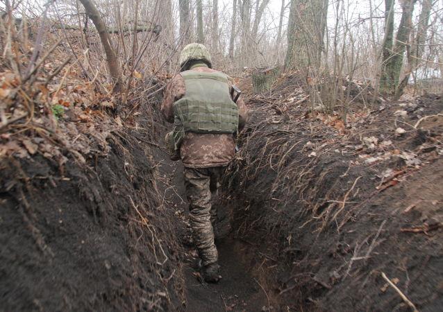 乌克兰军人在顿巴斯