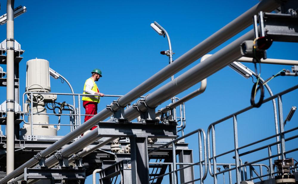"""正在施工建设中的德国""""北溪-2""""天然气管道项目"""