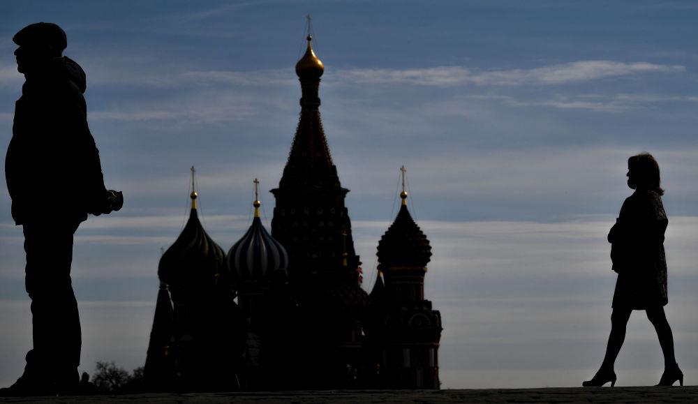 莫斯科红场上的游人
