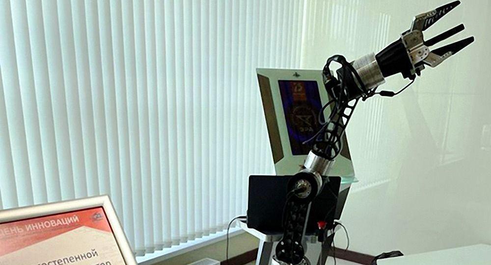 """""""时代""""科技城展出一种用于太空工作的操纵机器人"""