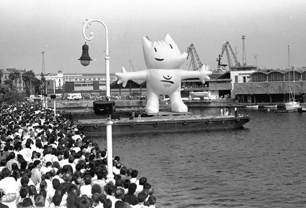 1992年西班牙巴塞罗那奥运会吉祥物科比。