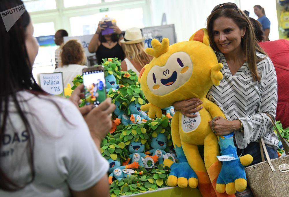 2016年巴西里约热内卢奥运会产品商店。