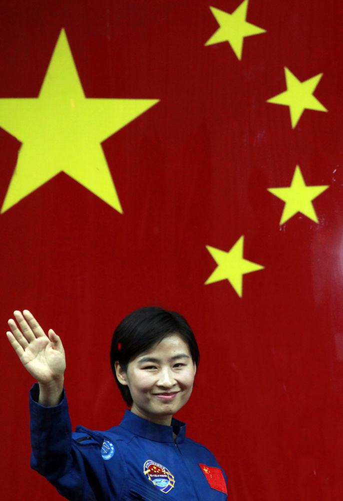 中国首位女航天员刘洋。