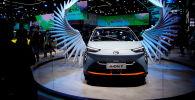 上海国际车展上的GAC Aion Y电动车。