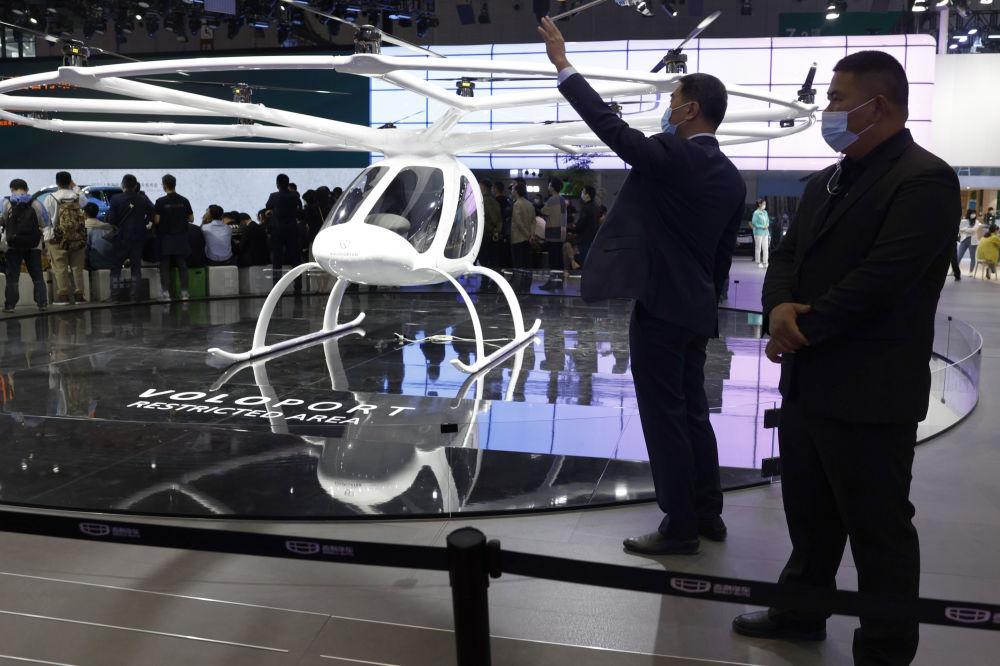 上海国际车展上的飞行器。