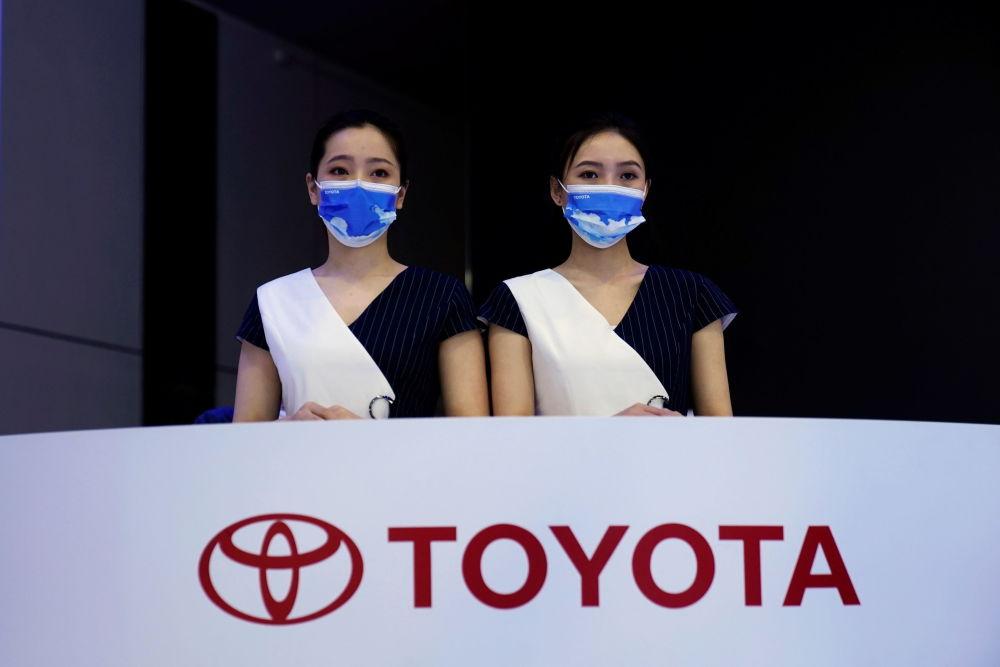 上海国际车展上的丰田展台。
