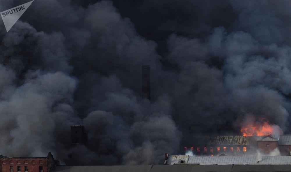 涅夫斯卡娅纺织厂大火。