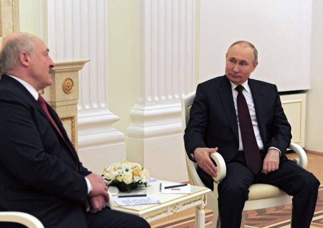 俄罗斯总统普京与白俄罗斯总统卢卡申科