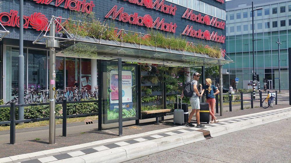 荷兰埃因霍温市的公交车站。