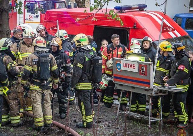 莫斯科东南部一家旅馆发生火灾致1人死亡18人受伤