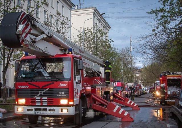 Пожар произошел в гостинице на юго-востоке Москвы