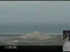 美国SpaceX公司在德克萨斯州成功试飞星舰