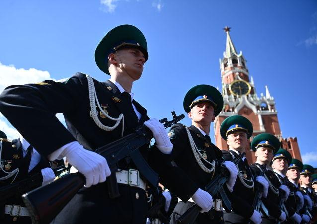 莫斯科红场举行胜利阅兵总排演
