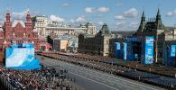 胜利日阅兵总彩排在莫斯科举行。