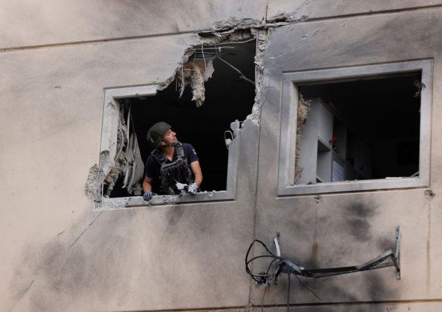 以色列军方:200多枚火箭弹从加沙射向以色列 以方打击哈马斯130个目标